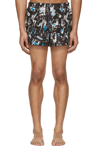 Dolce & Gabbana - Black Jazz Musician Swim Shorts