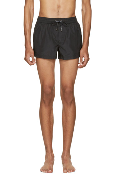 Dolce & Gabbana - Black Crown Swim Shorts