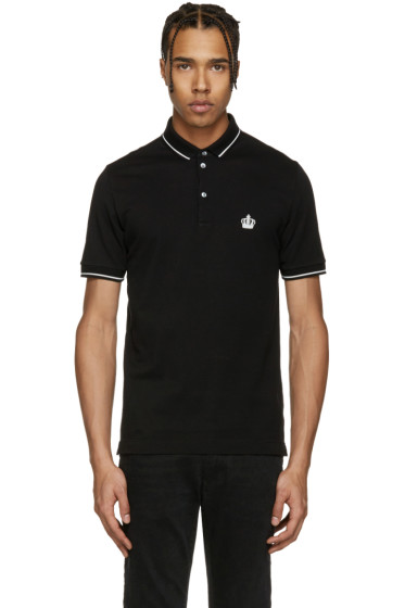Dolce & Gabbana - Black Crown Polo