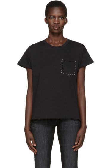 Rag & Bone - Black Vintage Crew Studs T-Shirt