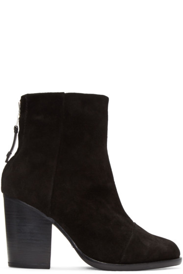 Rag & Bone - Black Suede Ashby Boots