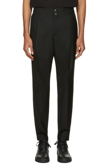 Public School - Black Wool Jekon Trousers