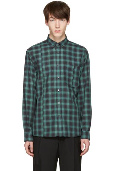 Public School - Green Check Retor Shirt