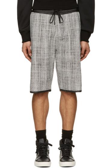 Public School - Black & White Tweed Shorts