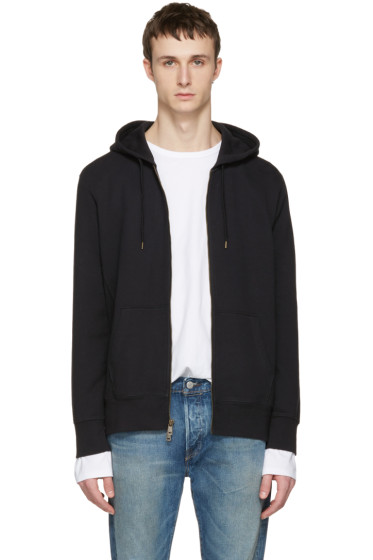 Levi's - Black Original Zip-Up Hoodie