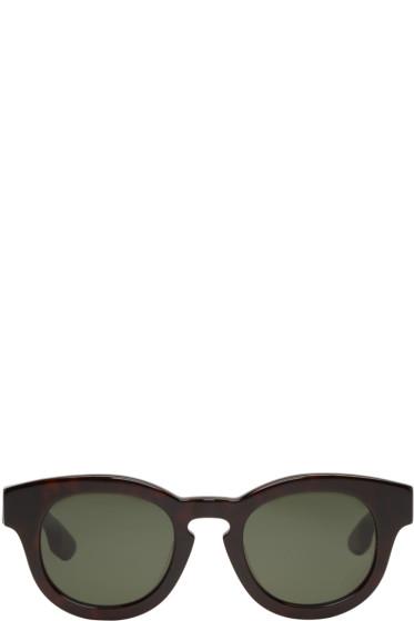 McQ Alexander Mcqueen - Black Round Bold Sunglasses