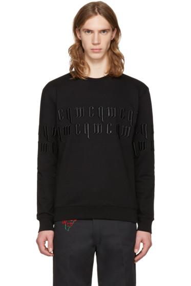 McQ Alexander Mcqueen - Black Embroidery Logo Pullover