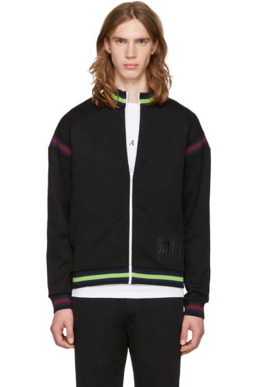 McQ Alexander Mcqueen - Black Cycle Zip-Up Sweater