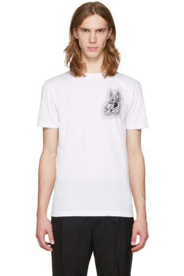 McQ Alexander Mcqueen - White Bunny Be Here Now T-Shirt