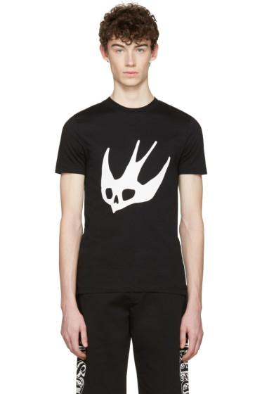 McQ Alexander Mcqueen - Black Swallow T-Shirt