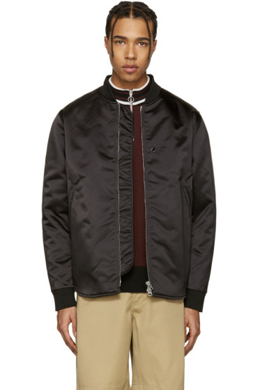 Acne Studios - Black Mylon Bomber Jacket