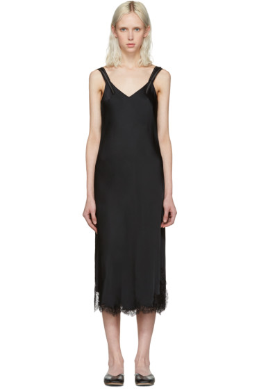 Helmut Lang - Black Lace Slip Dress
