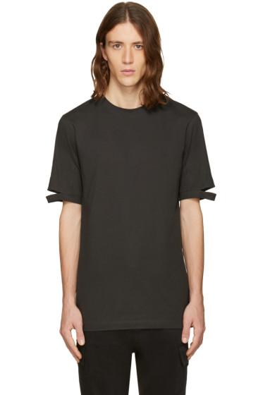 Helmut Lang - Green Cut Hem T-Shirt