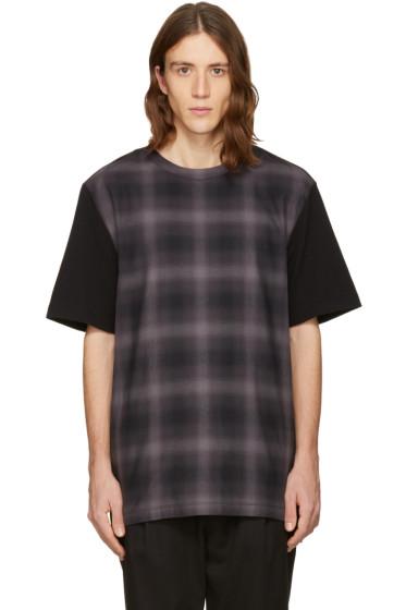 Helmut Lang - Black Check Combo T-Shirt