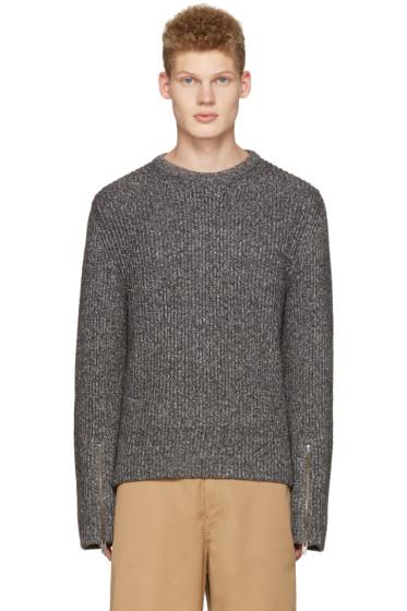 Maison Margiela - Grey Ribbed Sweater