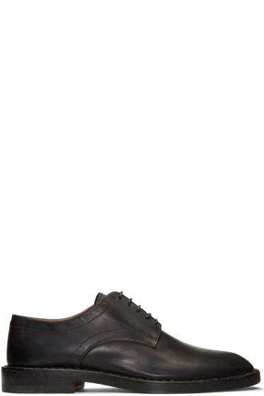 Maison Margiela - Black Leather Convertible Derbys