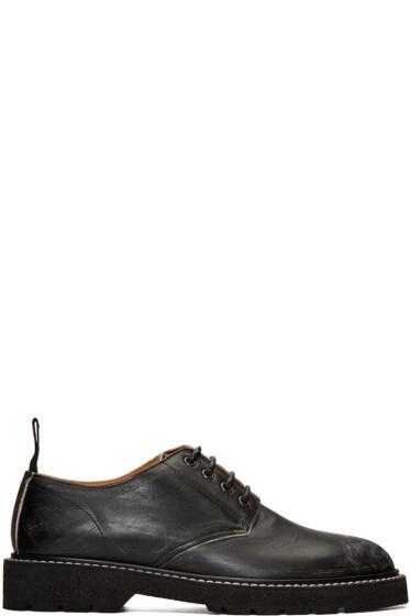 Maison Margiela - Black Leather Distressed Derbys
