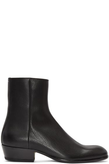 Maison Margiela - Black Cuban Heel Boot