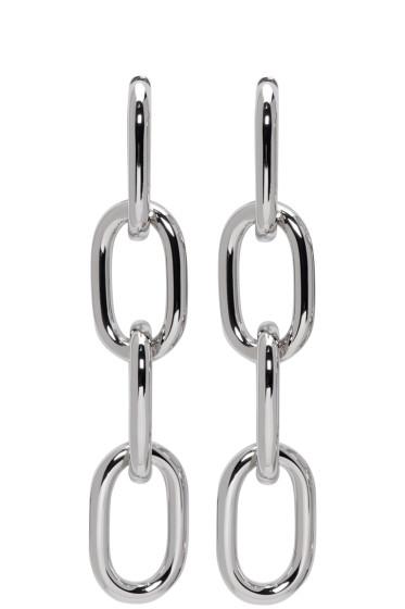 Alexander Wang - Silver Four-Link Chain Earrings