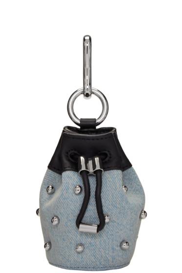 Alexander Wang - Blue Denim Mini Roxy Pouch Keychain