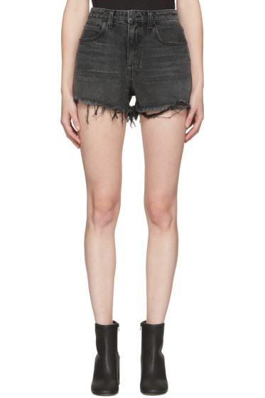 Alexander Wang - Grey Denim Bite Shorts