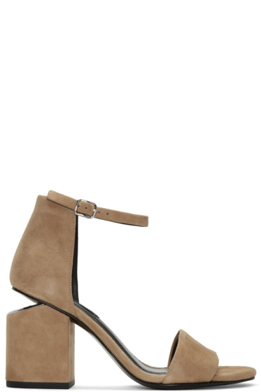 Alexander Wang - Tan Suede Abby Sandals