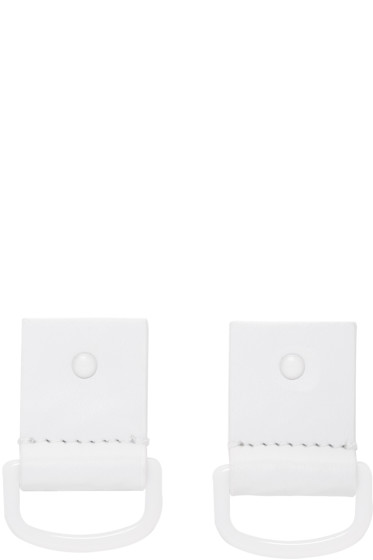 MM6 Maison Margiela - White Leather Earrings