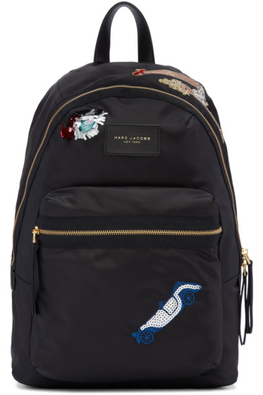 Marc Jacobs - Black Nylon Collage Biker Backpack