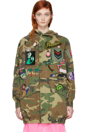 Marc Jacobs - Tan Camo Embroidered Jacket