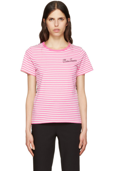 Marc Jacobs - Pink Printed Patchwork T-Shirt