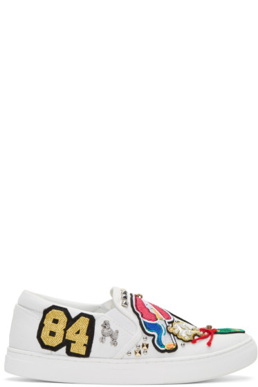 Marc Jacobs - White Embroidered Mercer Sneakers