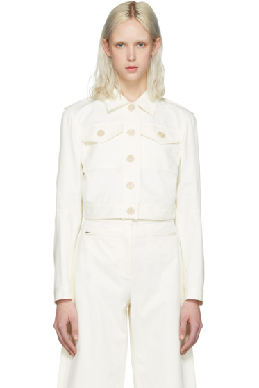 T by Alexander Wang - White Cropped Jacket