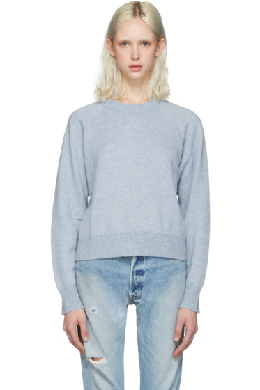 T by Alexander Wang - Blue Cropped Sweater