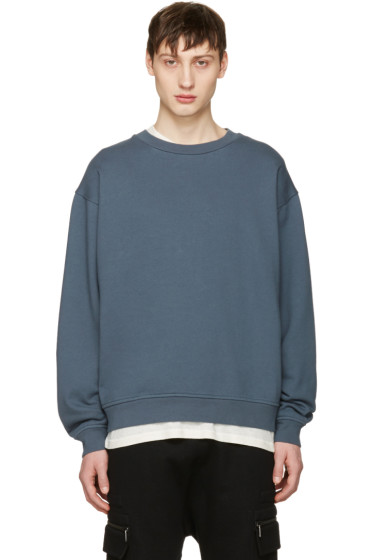 T by Alexander Wang - Blue Fleece Pullover