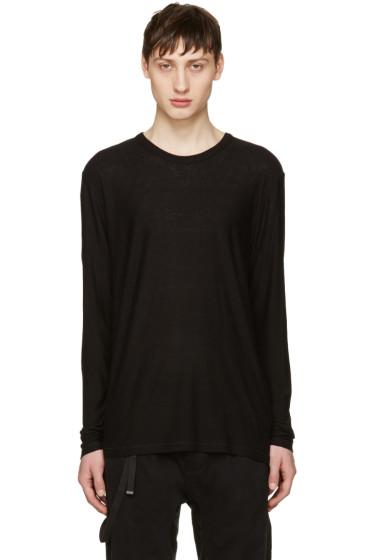 T by Alexander Wang - Black Long Sleeve T-Shirt