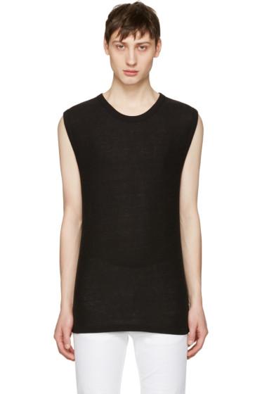 T by Alexander Wang - Black Sleeveless T-Shirt