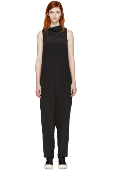 Rick Owens - Black Halter Bodybag Jumpsuit