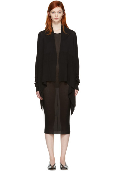 Rick Owens - Black Medium Wrap Cardigan