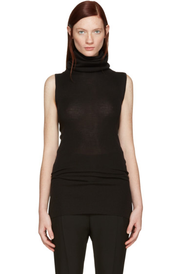 Rick Owens - Black Ribbed Merino Turtleneck