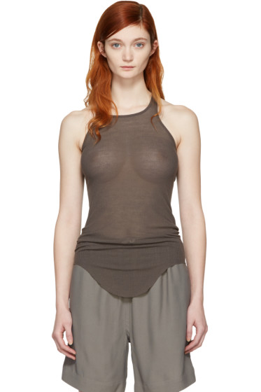 Rick Owens - Grey Basic Ribbed Tank Top