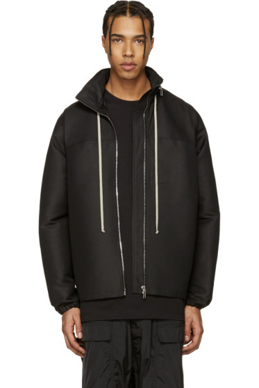 Rick Owens - Black Hooded Coat