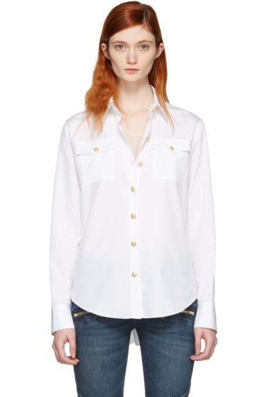 Balmain - White Gold Button Shirt