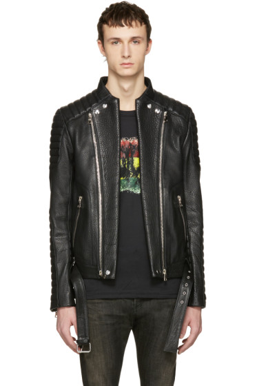 Balmain - Black Biker Jacket
