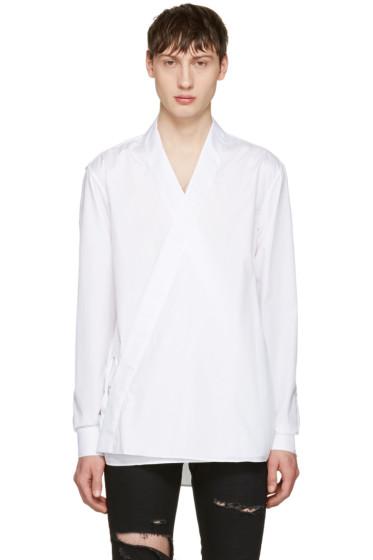Balmain - White Kimono Shirt