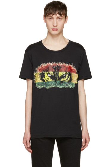 Balmain - Black 'Yeux de Loup' T-Shirt