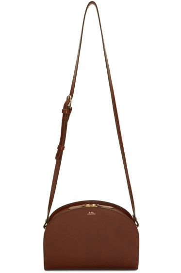 A.P.C. - Brown Half-Moon Bag