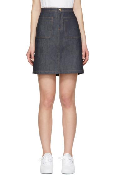 A.P.C. - Indigo Denim 70's Miniskirt