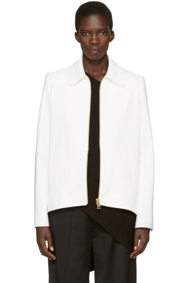 Lanvin - Ivory Short Zip Jacket