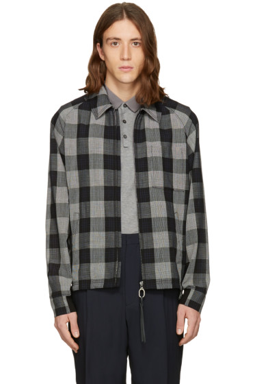 Lanvin - Black Wool Check Jacket