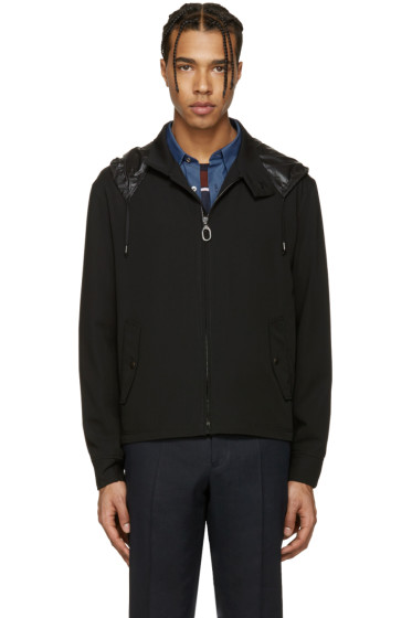 Lanvin - Black Wool Cropped Crane Jacket
